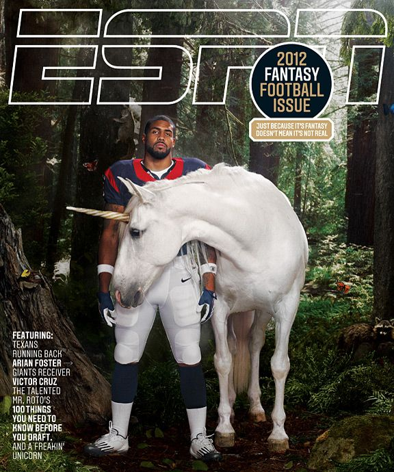 Arian Foster of the Houston Texans:  Should I put him in beauty or Houston/Galveston. Let me think...