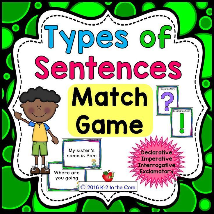 What kind of sentence is it – Declarative, Imperative, Interrogative, or Exclamatory? How should this sentence be punctuated? This is an active, whole class game your students will surely enjoy while practicing these skills! Half of your students will get punctuation cards. The other half will get cards with unpunctuated sentences. When you give the signal, students walk around, read sentences, and find a match. Finally, partners report to the class about their sentence.