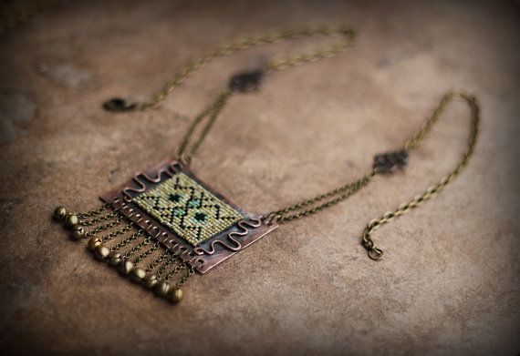 Tribal Necklace Arabic Style Necklace Kuchi Necklace by Triballa