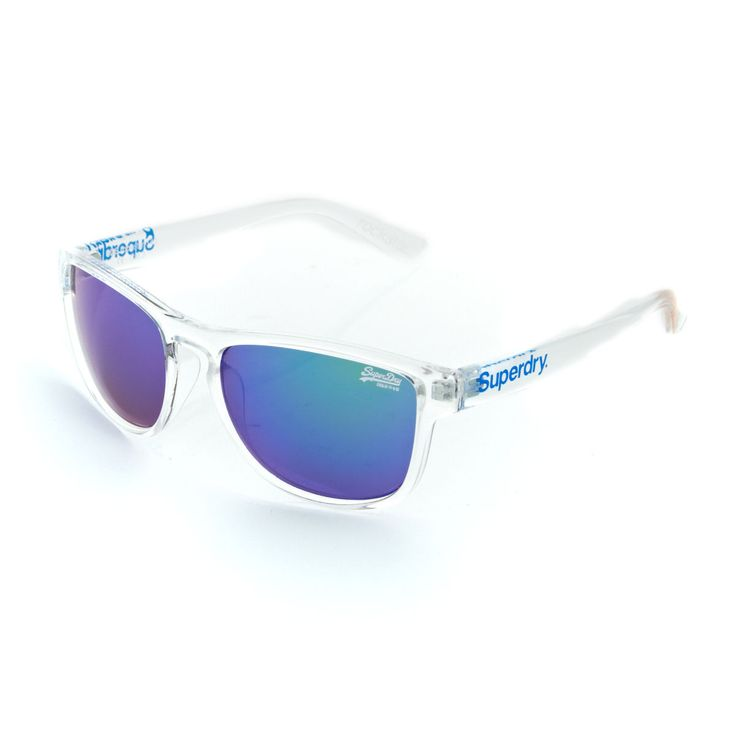Superdry Sunglasses - Superdry Rockstar Sunglasses - Clear Crystal/blue Green/green
