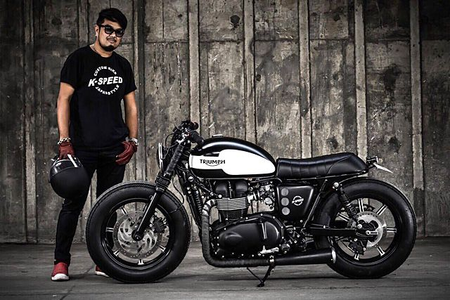 'Black Bulldog' Triumph Bonneville – K-Speed Customs.   There are literally millions of two-wheeled machines on the streets of Thailand, with the market dominated by a huge variety of scooters and low capacity commuter bikes. With 15 million people living in the Greater Bangkok area it makes for the perfect form of transport, if not more than a little dangerous for the uninitiated...