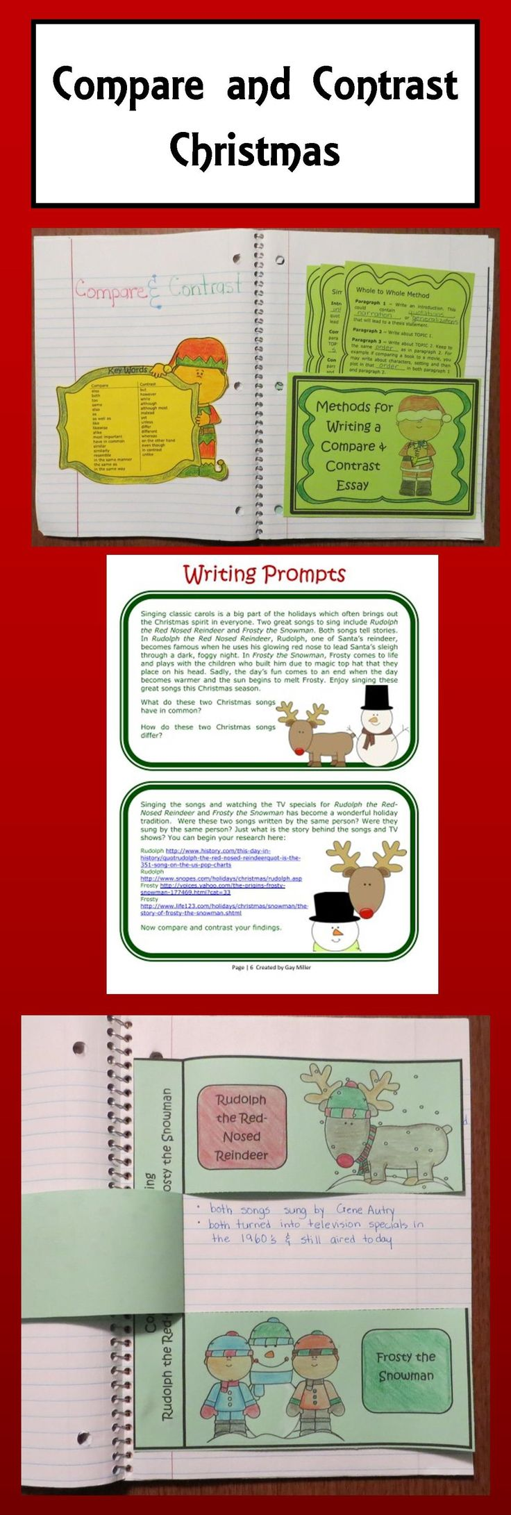 Free Compare and Contrast Christmas Activities