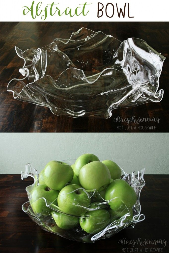 Making this DIY abstract bowl is easier than you might think! So cool!
