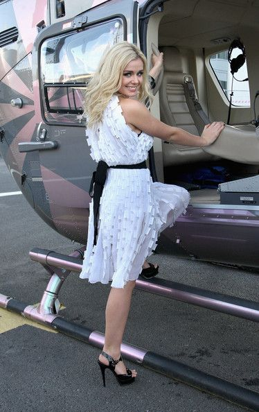 """Katherine Jenkins Photos: Katherine Jenkins Takes Helicopter Ride To Promote """"Believe"""" In Wales"""