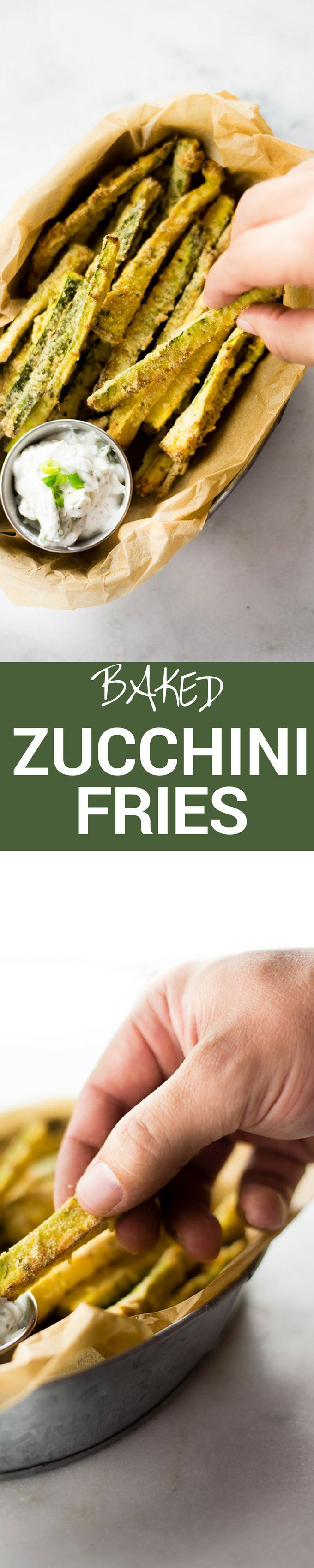 These tasty baked zucchini fries are a fun and healthy way to eat your veggies | A Sweet Pea Chef