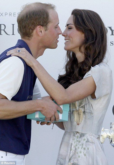 Prince William leans in for a kiss: