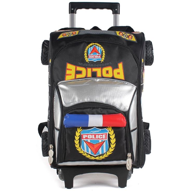 Hotoop School Bags Car 3D Design Kid's Rolling Backpacks >>> More info could be found at the image url.