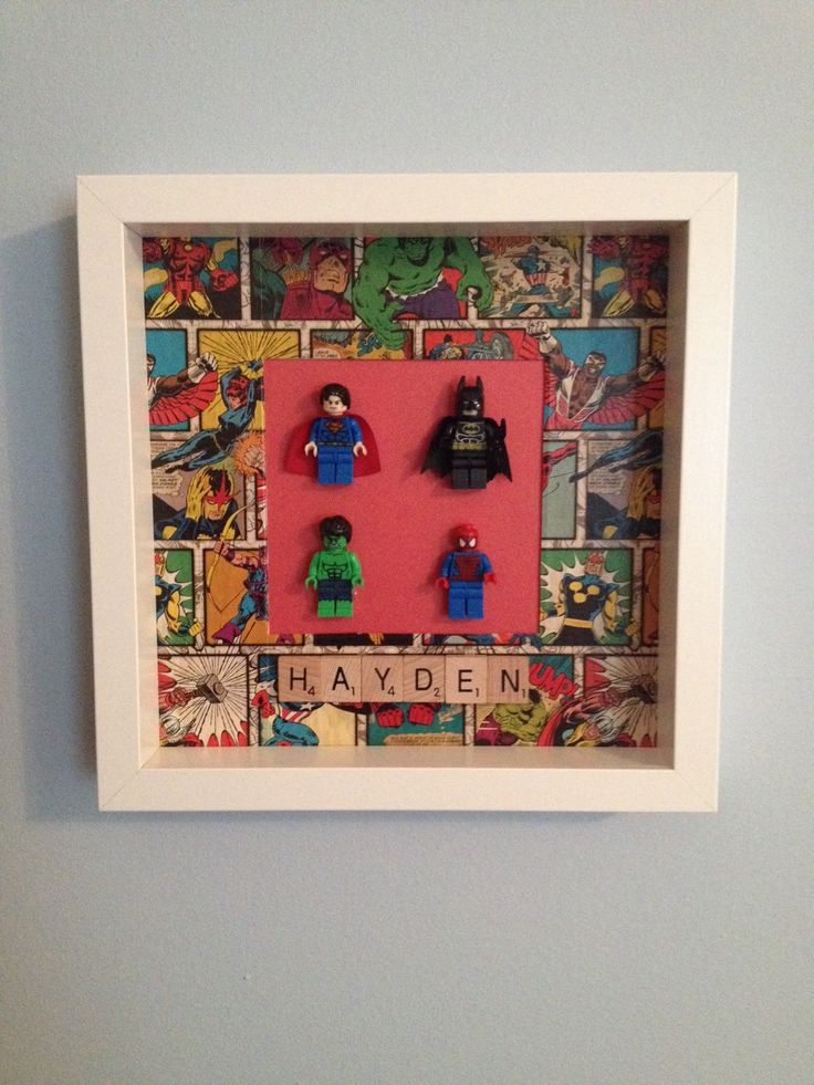 Superheroes Lego Frame by Emmaswordlove on Etsy