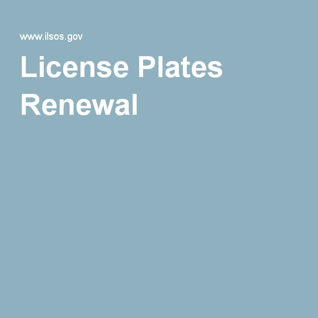 License Plates Renewal