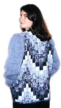 Photo of quilted bargello jacket.