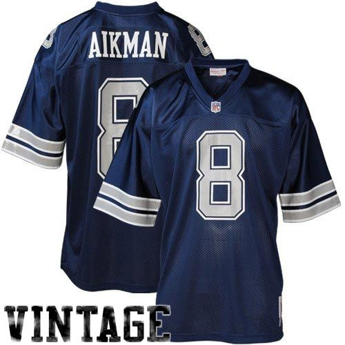 f215cb06c2e ... Dallas Cowboys 8 Troy Aikman Navy Blue 1992 Throwback Collectible Jersey  .