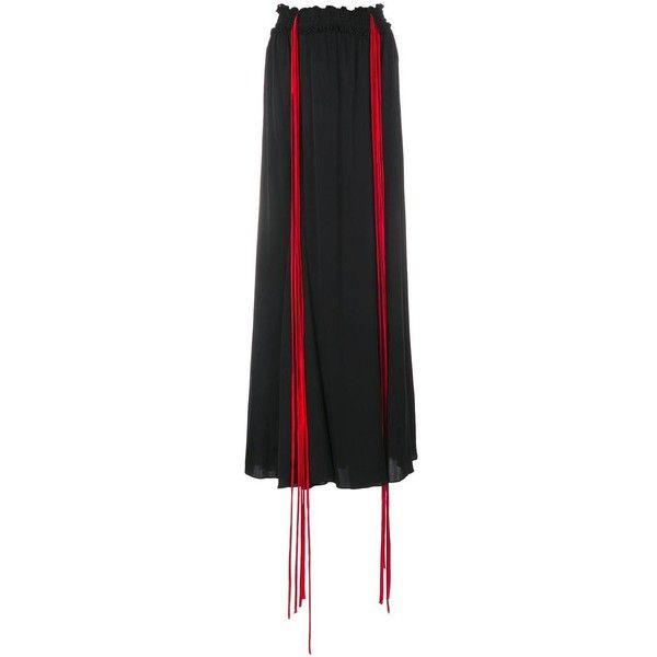 Ellery Milo long skirt featuring polyvore, women's fashion, clothing, skirts, black, flared skirt, long skirts, high-waisted maxi skirt, high-waisted skirts and long skater skirt
