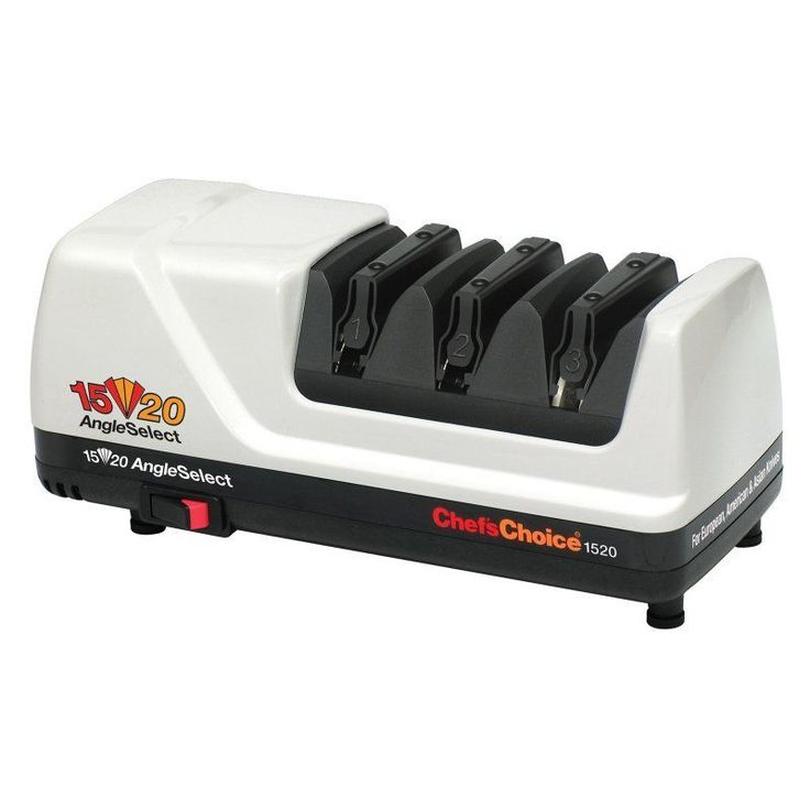 Chef'sChoice Model 1520 Angle Select Diamond Hone Electric Knife Sharpener- White - 0115200
