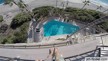 Daredevil Jumping From Hotel's Roof Into A Swimming Pool | Gif Finder – Find and Share funny animated gifs