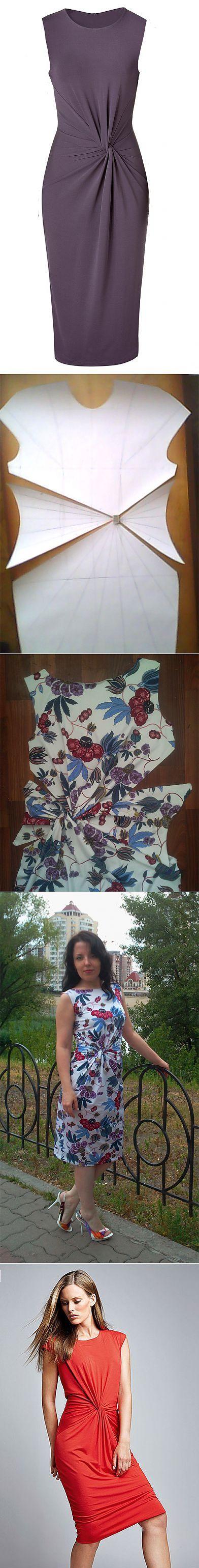 Patrón vestido con corte en cintura
