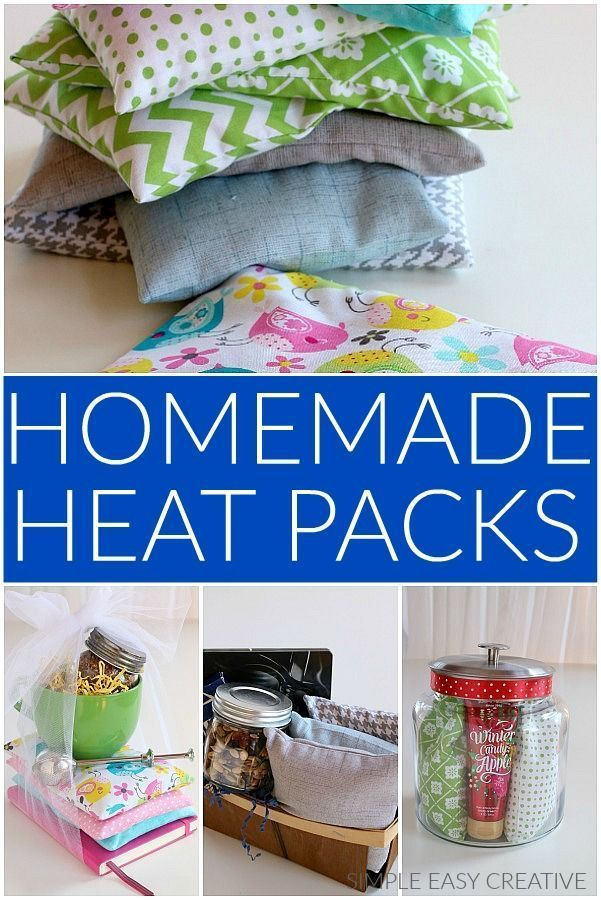 Homemade Heat Packs These Easy To Make Reusable Heat Packs Make Great Gifts Homemade Heat Packs Diy Christmas Gifts Sewing Christmas Diy Sewing