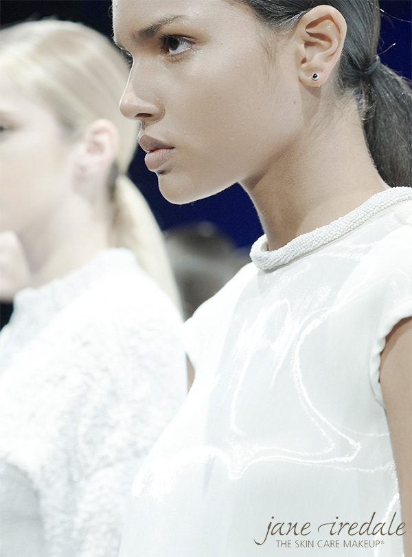 get the look Jane Iredale .. the Mineral Make Up leaders rock it at New York Fashion Week 2012