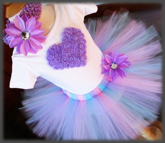 Birthday Tutu Outfit Valentines Day Tutu Outfit 1st by RBKBoutique