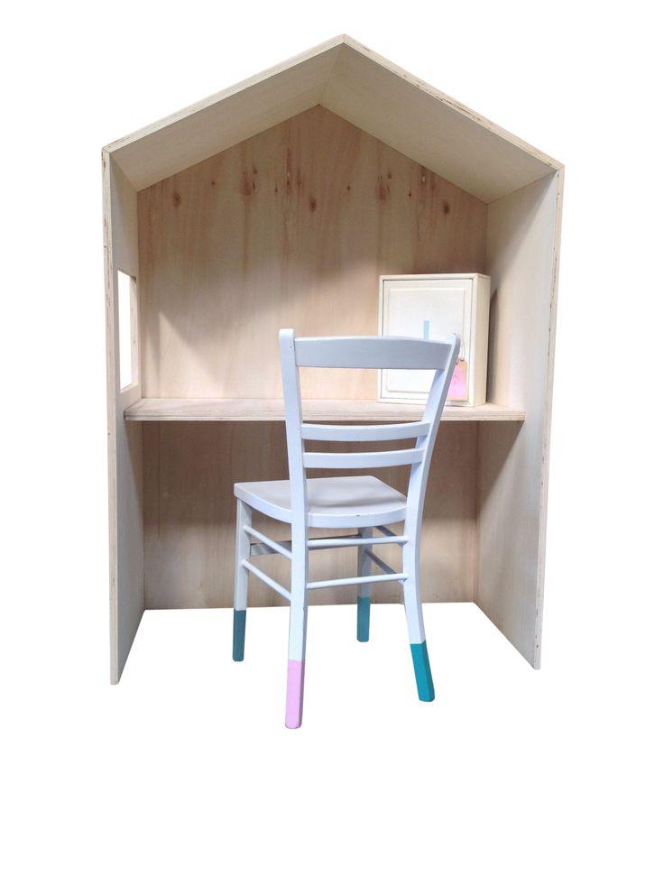 25 beste idee n over houten speelhuisje op pinterest - Houten bureau voor kinderen ...