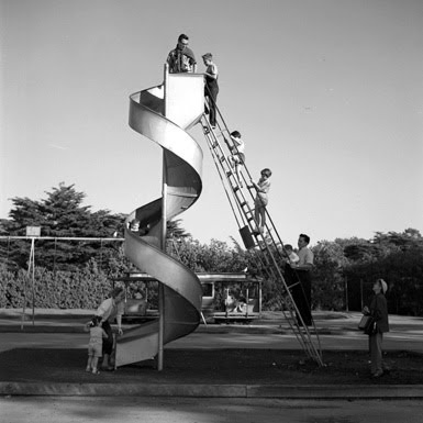 playscapes: Vintage Chicago Playground Slide, Vivian Maier