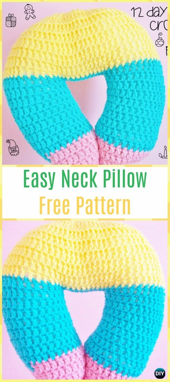 Crochet Travel Neck Pillow Padrões e Tutoriais