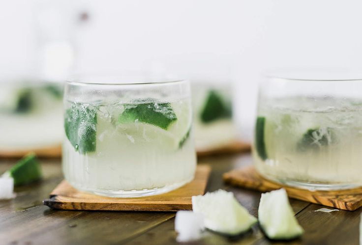 The Crucial Steps to Making the Perfect Caipirinha 1. Cut a fresh lime into 8 cubes and put the pieces in a rocks glass, face up. 2. On top of the lime add three bar spoons of organic demerara sugar. 3. Muddle gently. 4. Add 60ml of good white cachaça, stir, add ice cubes, stir, and add a stalk of cane sugar for garnish.