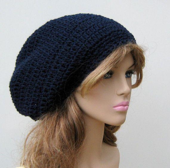 Hand Crochet Tam Rasta Beanie Hat Chic Slouch By T