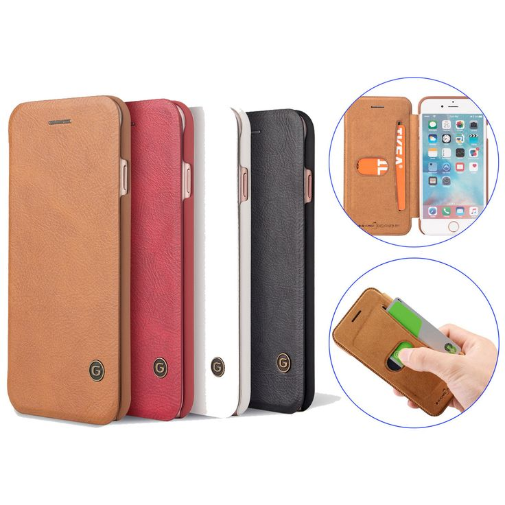 PU Leather Flip Wallet Card Holder Case For iPhone 7 Plus/8 Plus