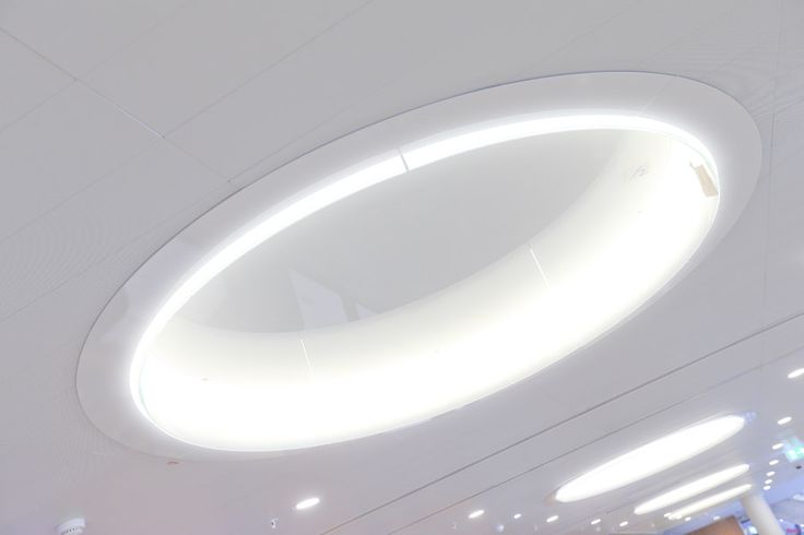Skylights at the check-in area in Terminal 2.