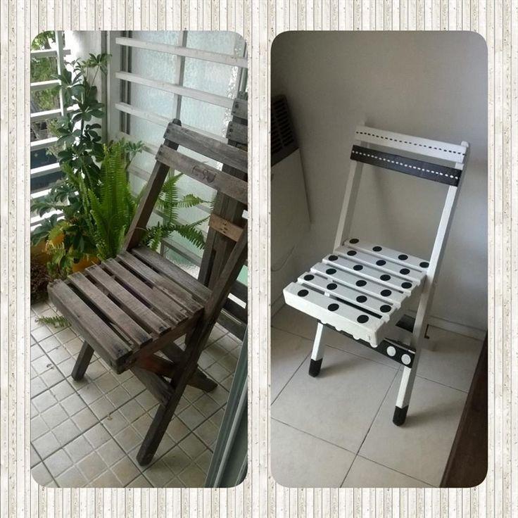 Blanco y Negro, silla intervenido by @quieroalgobonito.com
