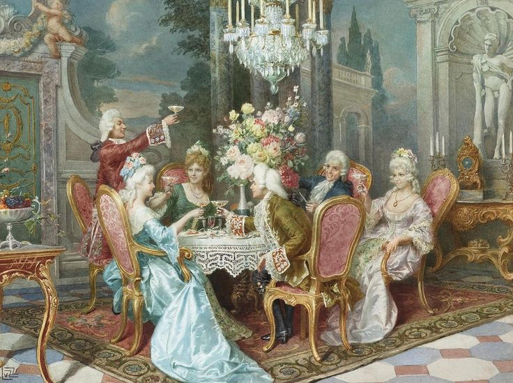 The toast - Cleto Luzzi, Italian, 1884-1952
