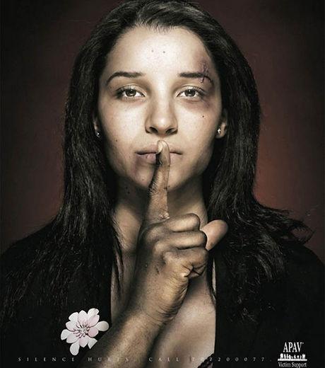Une autre publicité dénonçant les violences conjugales