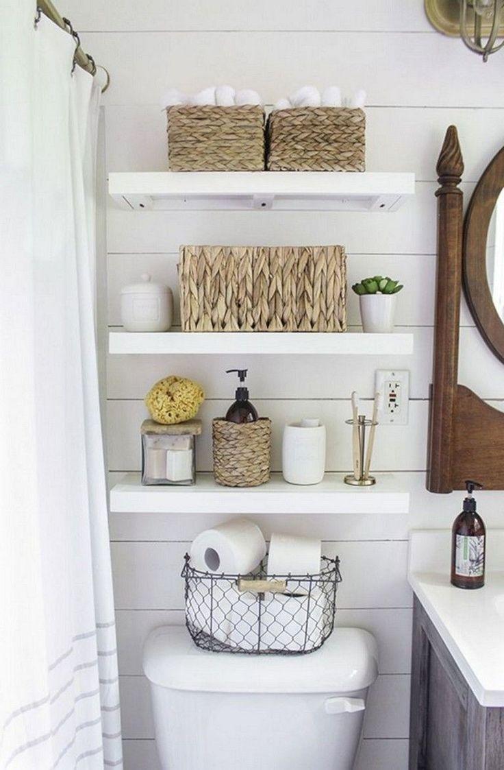 40 Modern Rustic Bathroom Shelves