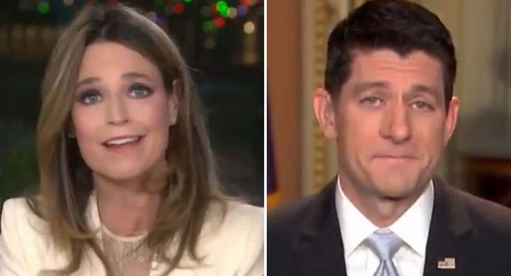 After Savannah Guthrie asks if he's 'living in a fantasy world,' Paul Ryan has a priceless response