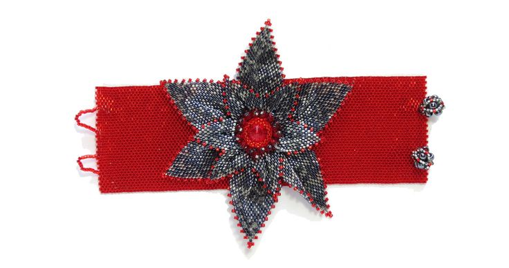 Iron Petals Flower cuff bracelet. Statement handmade piece.