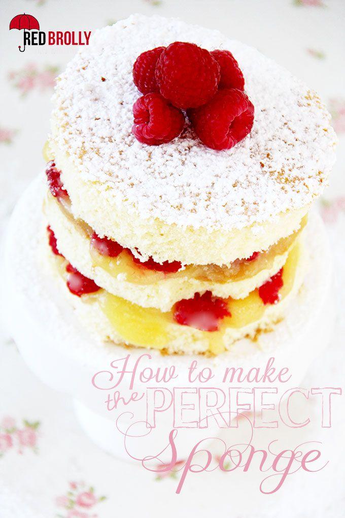 Sponge Cake Red Brolly