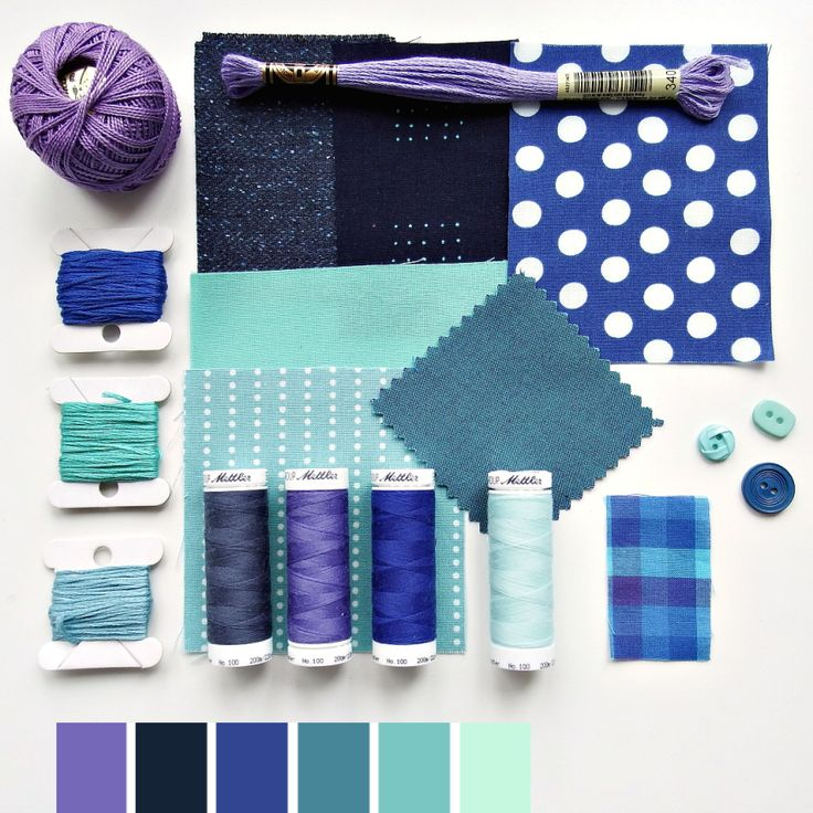 Color curated moodboard by Very Berry for #the100dayproject - 58/100 blue teal purple