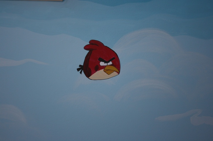 17 best images about walls on pinterest trees wall for Angry bird wall mural