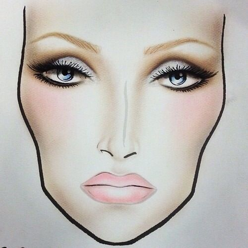 Neutral face chart. Great for a lunch or dinner