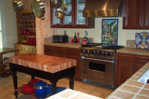 updated spanish, mexican themed kitchen