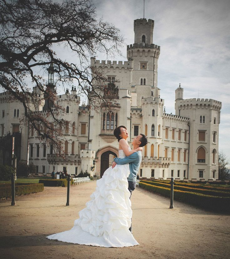 Sandy & Jimmy (Hong Kong) Pre Wedding Portrait Session at Castle Hluboka nad Vltavou in the Czech Republic
