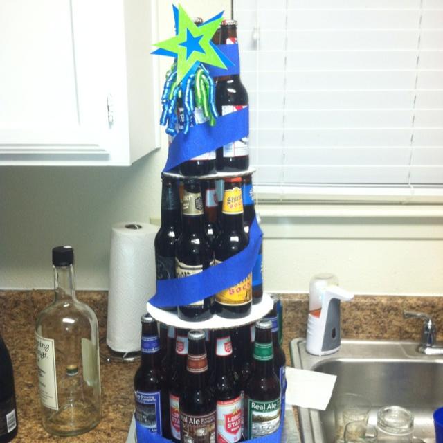 Bottled Beer Cake For A Friends Birthday Diy