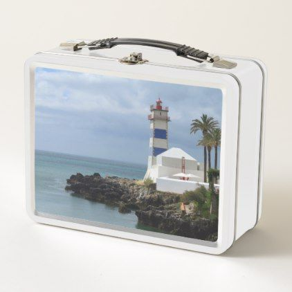 Santa Marta lighthouse Metal Lunch Box - kitchen gifts diy ideas decor special unique individual customized
