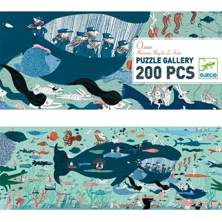 Krásně ilustrované puzle se spoustou zajímavých detailů. Motiv obrázku je život pod hladinou oceánu. Puzzle se skládají z 200 dílků, jsou vhodné pro děti od cca 6 let. Dílky jsou vyrobeny z kvalitní odolné lepenky.