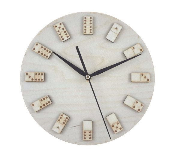 Minimal domino wall clock - Game Art - Home decor - Unique - Interior  design - Contemporary