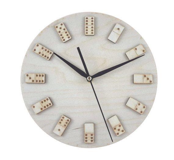 Minimal domino wall clock - Game Art - Home decor - Unique - Interior  design - Contemporary