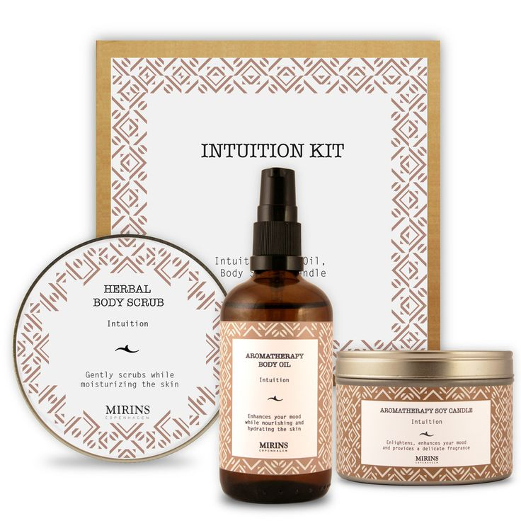 Intuition Kit  Our Intuition Kit contains three items from the Calming Aromatherapy line.   Includes Intuition Body Oil, Body Scrub & Candle.