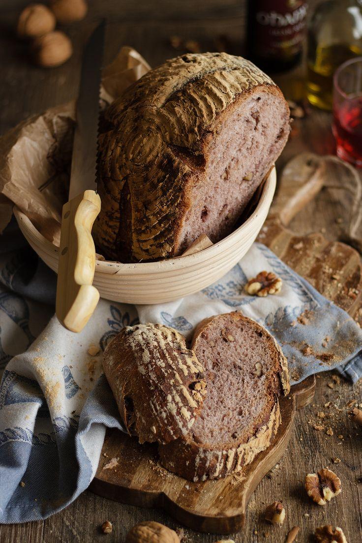 Red wine, walnut and raisin sordough Bread