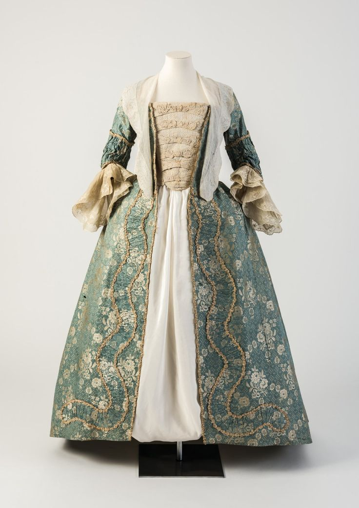 "fripperiesandfobs: "" Robe à la française, 1750′s From the Fashion Museum, Bath on Twitter """