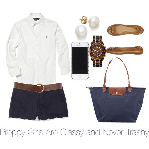 Preppy girls are classy and never trashy